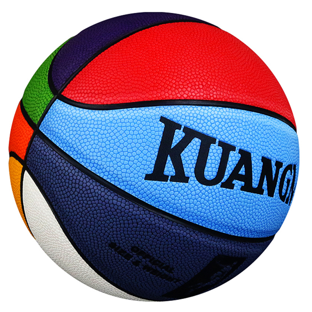Kuangmi Basketball Official Size 7 PU Leather Game Training Outdoor & Indoor Basketball Ball Thanksgiving Day Christmas Gift kuangmi sporting goods basketball pu training game basketball ball indoor outdoor official size 7 military sporit series netball