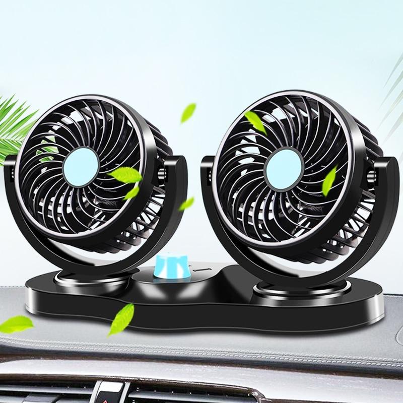 Rotating-Cooling-Fan Cooler Car-Air-Conditioner Electric-Car Summer Ventilador Mini 12V/24V