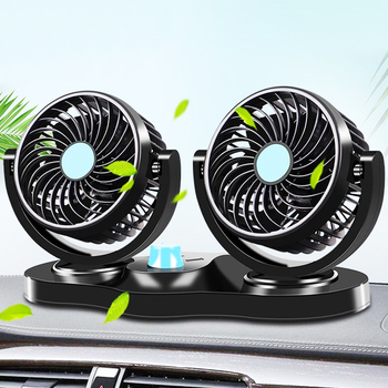 12V/24V Mini Electric Car Fan Low Noise Car Air Conditioner 360 Degree Rotating Cooling Fan in the car Cooler ventilador Summer