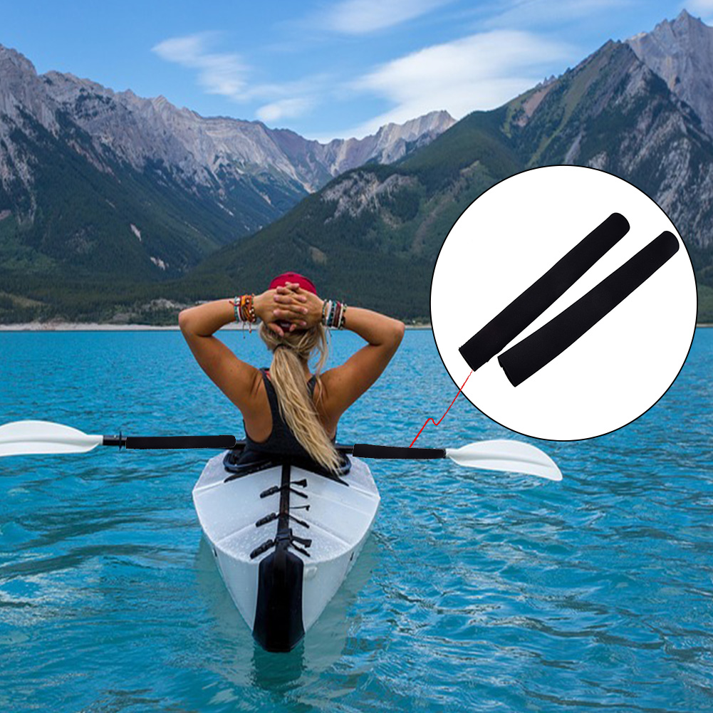 2pcs/set Paddle Grips Boat Anti Skid Protective Kayak Soft Canoe Prevent Blisters Calluses Paddling Supplies Oar Holder Neoprene