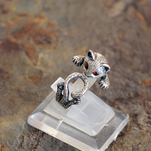 Silver S990 silver jewelry wholesale and exquisite lady matte cat ring matte silver