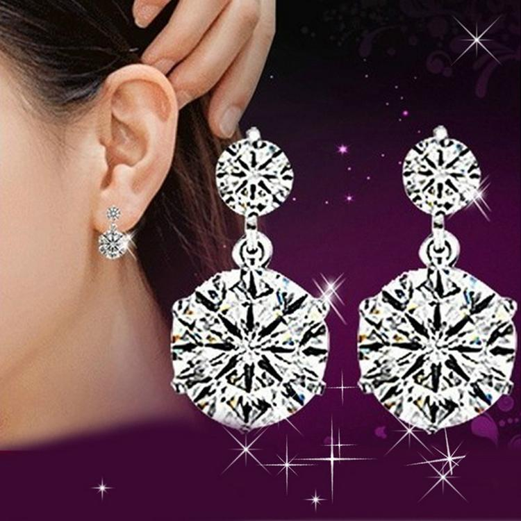 Korean Style High Quality Star Shaped Woman Earrings Silver Plated Charming Jewelery Accessories EAR-0614