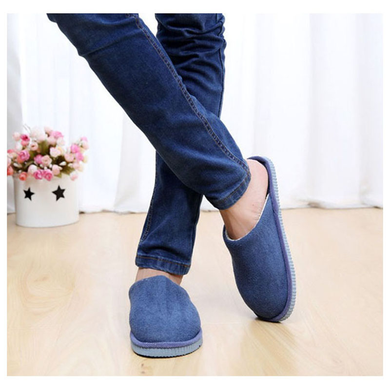 TEXU 1Pair New Men Anti-slip Shoes Soft Warm House Indoor Slippers, EU 42-43, 44-45 new new men women soft warm indoor slippers cotton sandal house home anti slip shoes