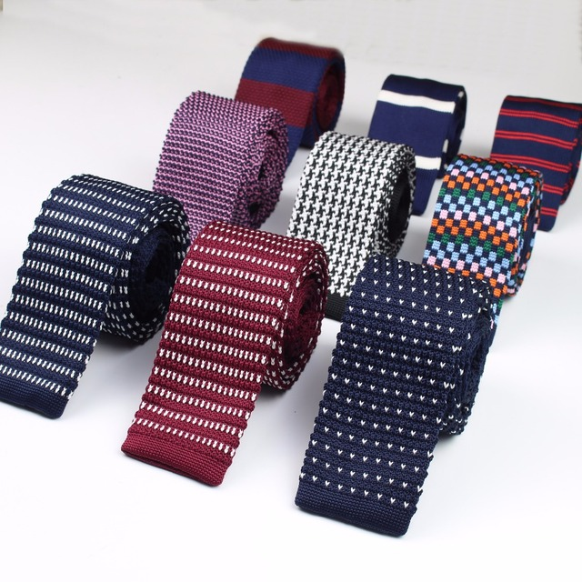 Fashion Men's Colourful Tie Knit Knitted Ties Necktie Narrow Slim Skinny Woven Cravate Narrow Neckties