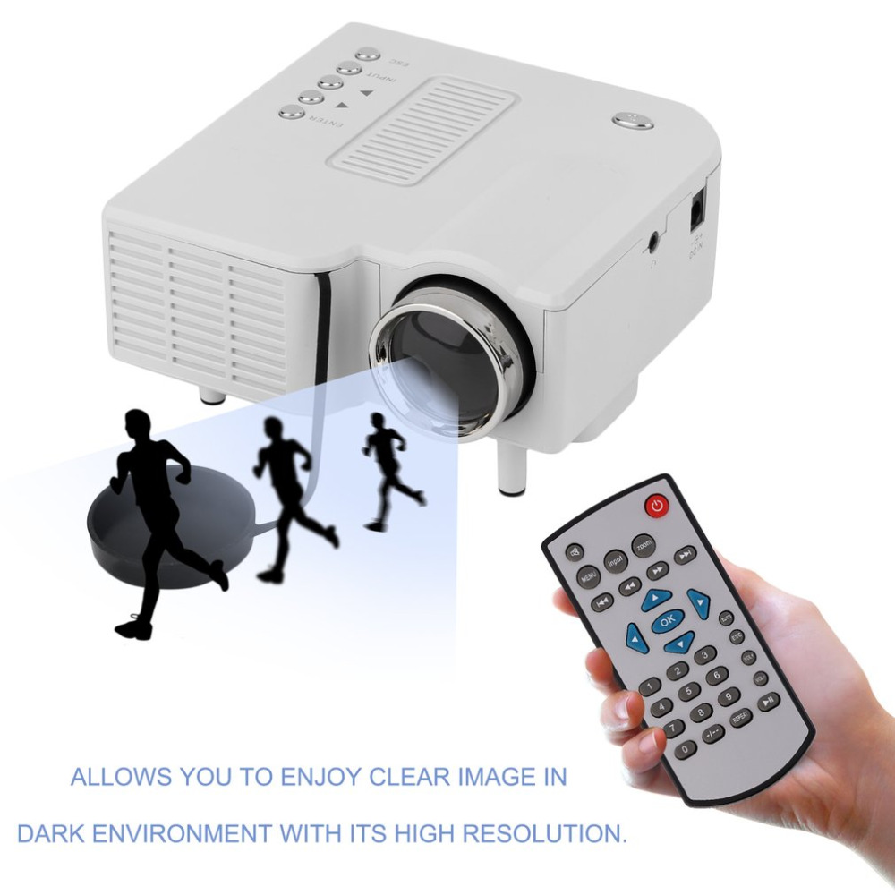 Portable LCD Display Projector Mini Digital LED Projector For Home Theater GA USB AV HDMI Home Office Part EU Plug