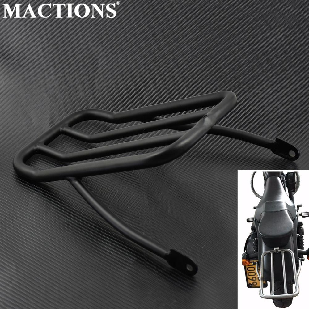Motorcycle Black Rear Fender Luggage Shelf Rack Case Casing For <font><b>Harley</b></font> Sportster <font><b>Iron</b></font> <font><b>883</b></font> XL883N Forty Eight XL1200X 72 12-16 image