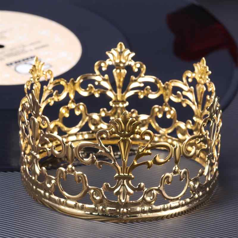 Tiara Crown Party Cake Decoration Crown Hair Ornaments Wedding Supplies Accessories