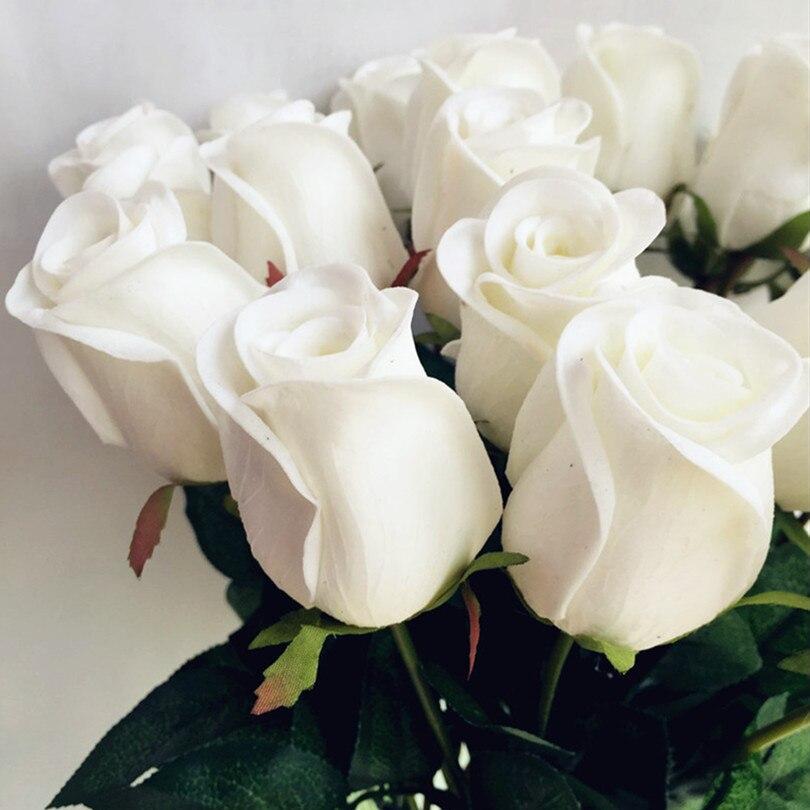 Настоящее сенсорный роза поддельные цветок розовый/синий/черный/красный/желтый/фиолетовый PU розы искусственные розы 43 см для Свадебная вечеринка декоративные цветы