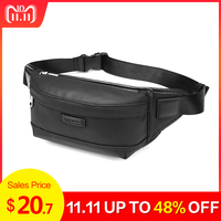 NIGEER Black Chest Pack Men Fashion Waist Packs For Money Belt Bags Pouch Bag Small Travel Messenger & Waist Bag Male n1830
