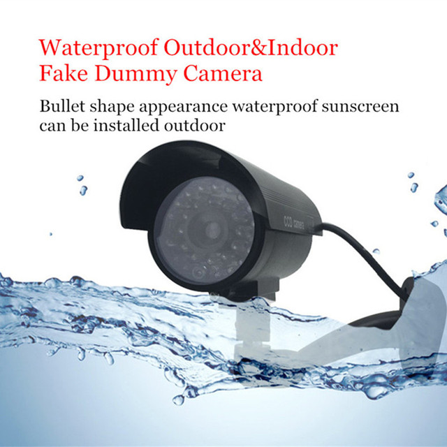 Fake Dummy Camera Bullet Waterproof Outdoor Indoor Security CCTV Surveillance Camera Flashing Red LED Free Shipping 2