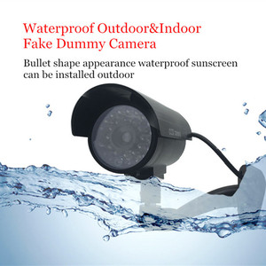Image 2 - Fake Dummy Camera Bullet Waterproof Outdoor Indoor Security CCTV Surveillance Camera Flashing Red LED Free Shipping