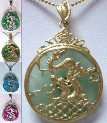 Free Shipping 5 Color-facny Green/blue/purple Dragon Pendant Free Chain Can Choose Necklaces & Pendants