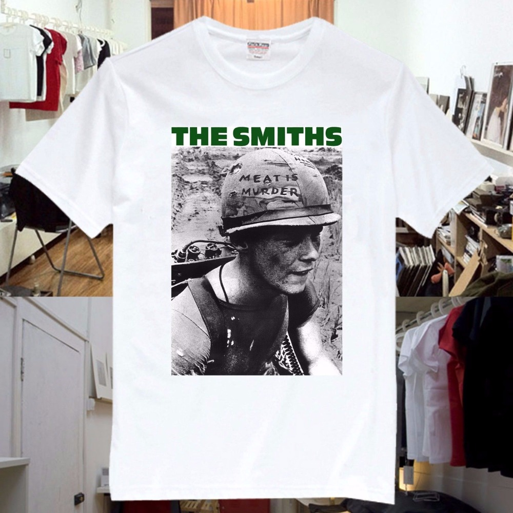 Shirt Shop Fashion 2018 O-Neck Short-Sleeve Mens The Smiths Meat Is Murder Single Rock Music Band CD T Shirt Unisex SS3 Tees