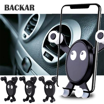 BACKAR Auto Car Expression Gravity Sensing Mobile Phone Holder Styling For Toyota Coralla CHR Fiat 500 Punto Renault megane 2 3 image