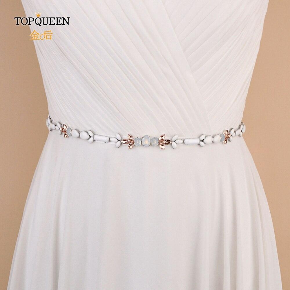 TOPQUEEN S422 Fast Delivery Weeding Dress Belt Rhinestones Belt Wedding Sash Belt Party Prom Waist Sash Belt Wedding Dress Belt