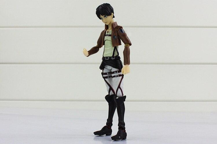 12cm Attack on Titan Figma 207# Mikasa Ackerman Action Figure ...