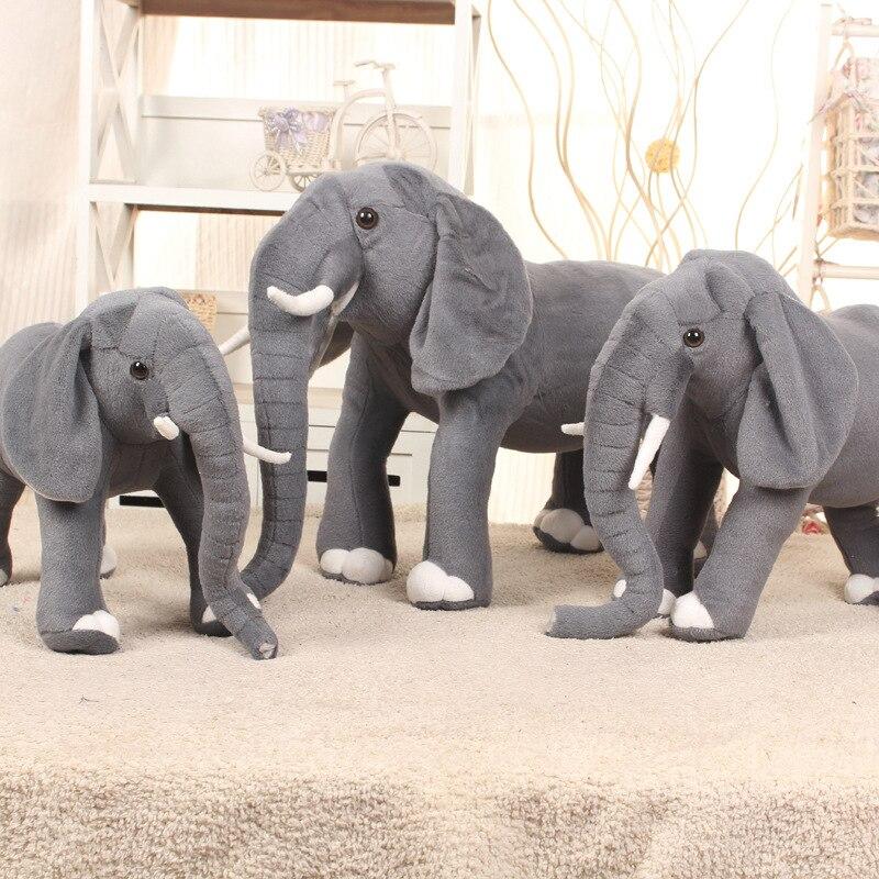 simulation elephant plush toy large 58x45cm gray elephant doll, birthday ,Christmas gift w1930 стоимость
