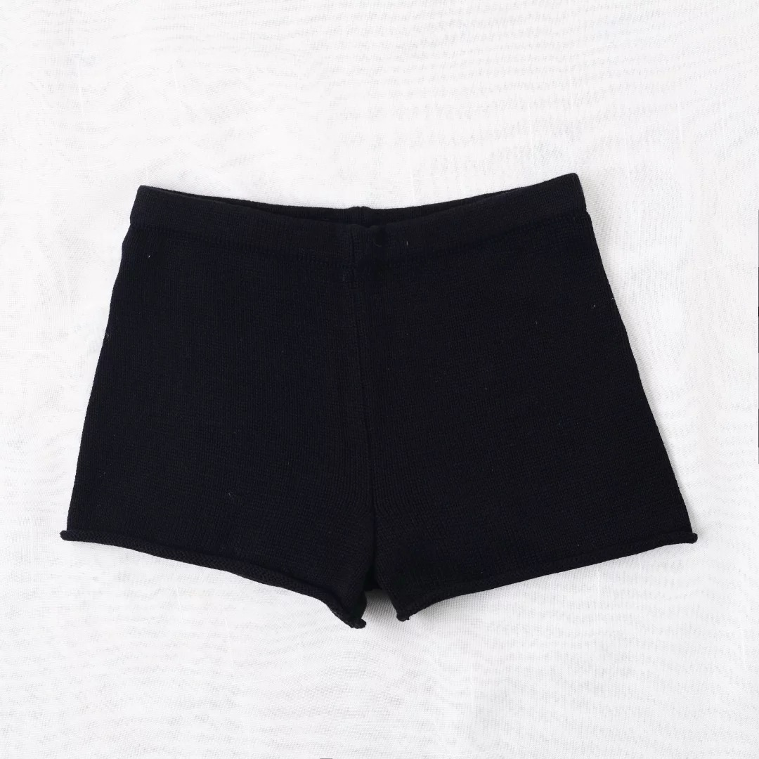 Aproms Summer Solid Color Knitted High Waist Shorts Women 17 Boho Cools Girls Streetwear Beach Elastic Shorts Female Bottoms 12