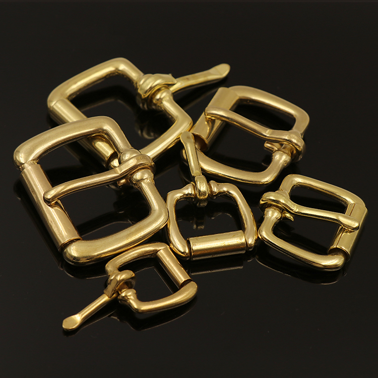 Meetee 5pcs Pure Copper Belt Buckle Roller Pin Brass Square Bag BD014 in Buckles Hooks from Home Garden