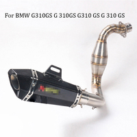 Slip on For BMW G310GS G 310GS G310 GS G310GS Exhaust Motorcycle Muffler Middle Link Pipe with Laser Marking Sticker