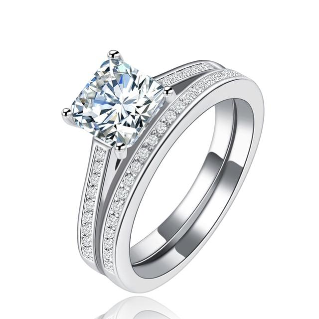Aliexpresscom Buy Engagement Wedding Ring Set 925 Sterling
