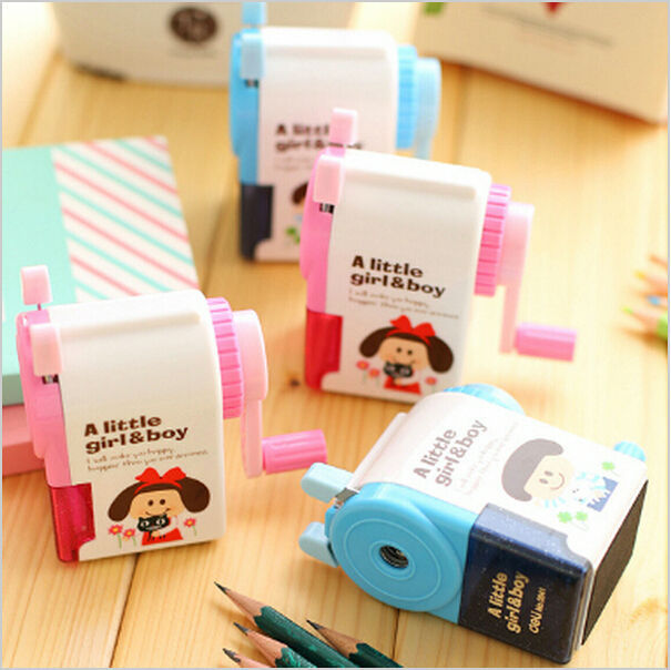 Deli Mechanical pencil sharpener machine Little Girl & Boy manual sharpener for kids Stationary Office School supplies  little kids fubbles bubble machine