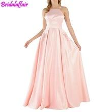 2018 Women Sex Pink Prom Dress Evening Dresses Long Formal Gown robes de soiree abiti da sera Occasion