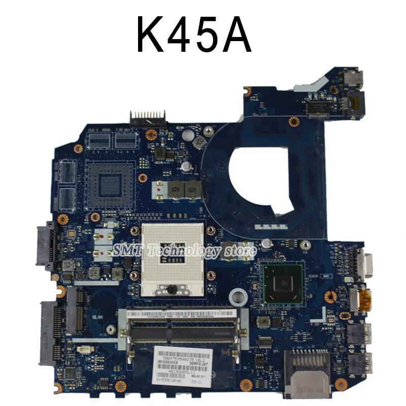 New!!!For ASUS K45A K45VD A45V K45VM K45VS A85V motherboard LA-8221P integrated without graphics card motherboard 100% tested for asus k45n k45 k45ei321vd k45a k45de k45vj k45vm k45vs keyboard