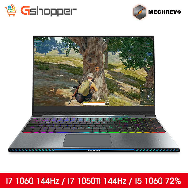 MECHREVO Laptop Gaming Mechanical-Keyboard Notebook-I7-8750h Intel 1050ti 1060 144 Z2 title=