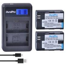 2 pc LP-E6N LP-E6 LP E6 E6N Litowo-jonowy Akumulator + LCD USB podwójna Ładowarka Do Canon EOS 5D Mark II, III 7D 60D 6D baterii