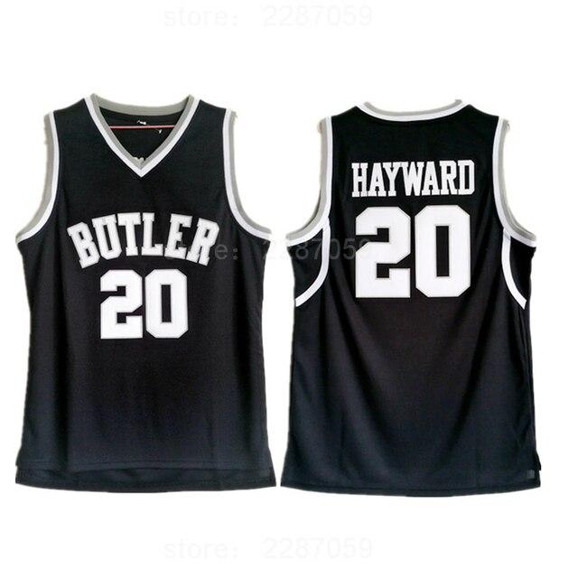 big sale c0317 ffe59 Ediwallen Butler Black 20 Gordon Hayward Jersey College University Butler  Bulldogs Basketball Jerseys Hayward Uniforms Stitched-in Basketball Jerseys  ...