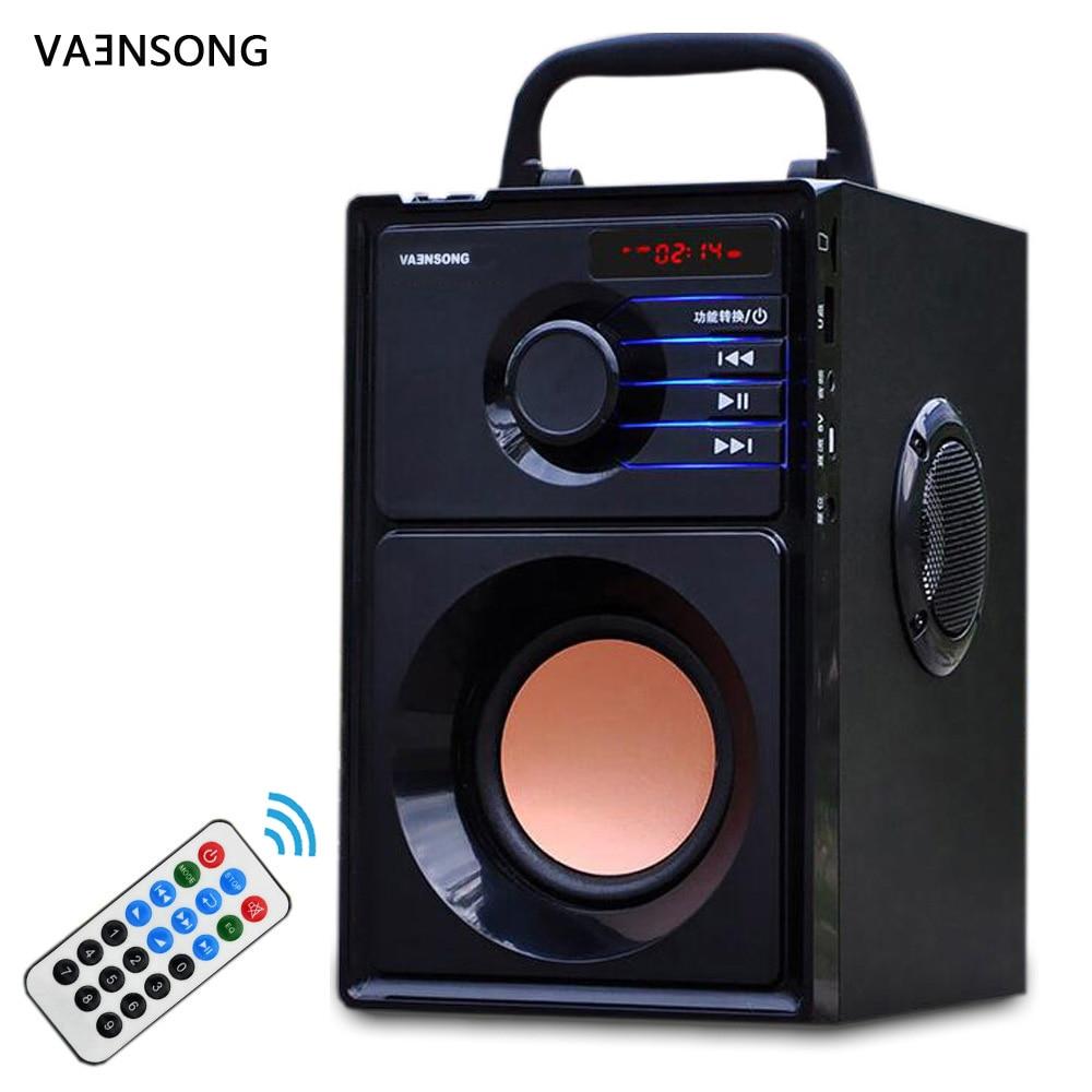 VAENSONG Big Power Bluetooth Speaker Subwoofer Wireless Portable Heavy Bass Stereo Speakers Music Player LCD Display FM Radio TF(China)