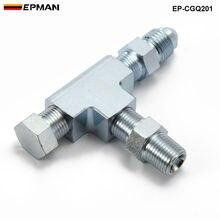 1/8NPT до 4AN турбо адаптер тройник фитинг w/блок датчик давления подачи масла EP-CGQ201
