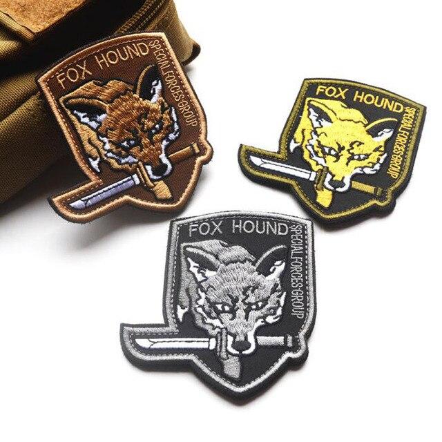 Işlemeli yama kol bandı özel çıkartmalar Metal Dişli Katı dış ordular Bölüm 3 renkler askeri yamalar rozetleri