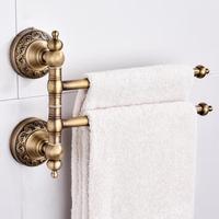 2pcs/4pcs Bars Bathroom Towel Holder Fine Copper Towel Rack Rotatable Bathroom Shelf Holder Hardware Accessory Wall Shelf