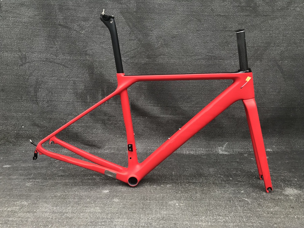 Fork-Clamp Road-Bike-Frame Carbon-Fibre Seatpost 880g Red-Color