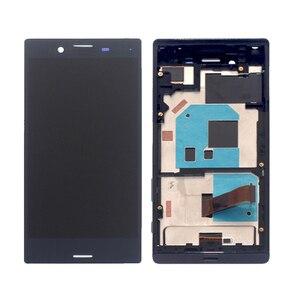 Image 2 - Yüksek kaliteli SONY X MINI çerçeveli lcd ekran digitizer için SONY için montaj Xperia X Kompakt F5321 ekran aksesuar yedek