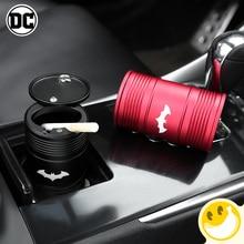 Justiça Aliança Tema Batman estilo Portátil Auto Car TruckCigarette Fumaça Cinzeiro do carro Sem Fumaça Cinzeiro Piteira