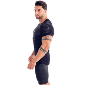 Image 2 - GymRagz 2019 New Cotton T Shirt Men Breathable T Shirt Homme Gyms T shirt Men Fitness Summer Printing Gyms Tight Top Black