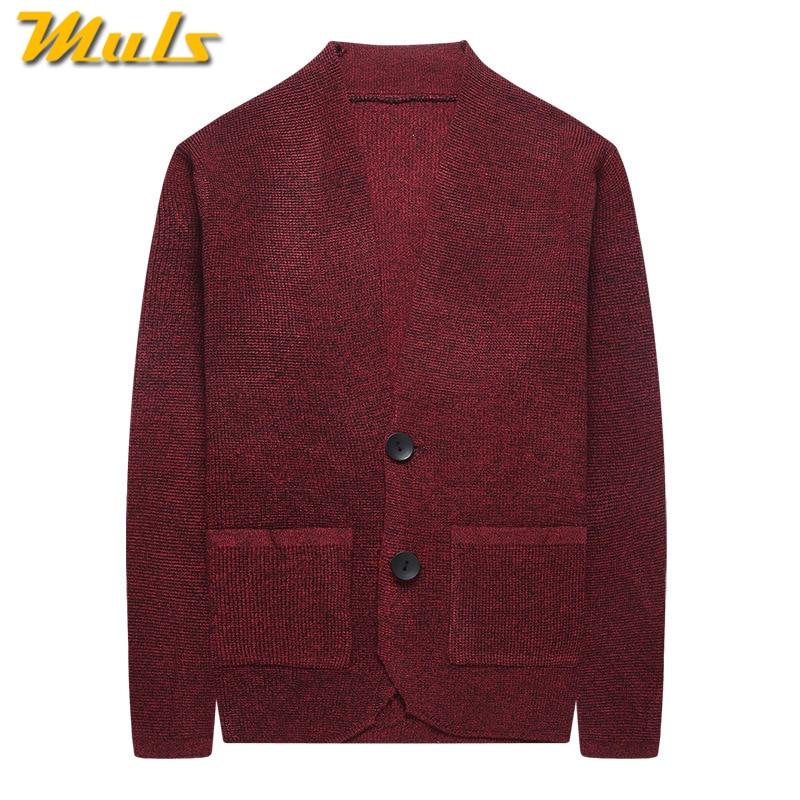 US $24.71 45% OFF|5 farbige Wolle Strickjacken Männer Pullover Jacke Mäntel Herbst Frühling Pullover Herren Dicken Taschen Männlichen Strickjacke