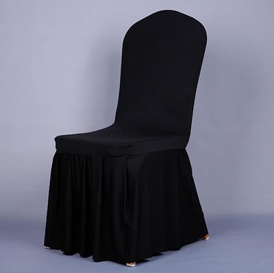 Pločaste suknje od elastične presvlake za stolice navlake za banket - Tekstil za kućanstvo - Foto 5
