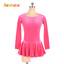 24 Colors Ice Skating Figure Skating Dress Gymnastics Competition Adult Child Girl Skirt Performance Skater Velvet