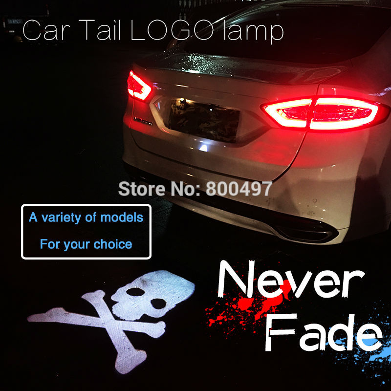 New Universal Auto Car LED Tail Logo Rear Anti-Collision Driving Safety Signal Warning Lamp for Mos of the Car Models