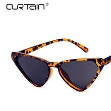 35a100141 الستار القط العين النظارات الشمسية المرأة خمر مثير السيدات الشمس Glases  الرجعية الثلاثي النظارات الإناث الأزياء oculos feminino .