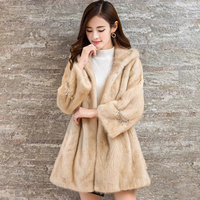 DHL fast delivery Ms winter fur warm fur long sleeved overcoat hooded jacket