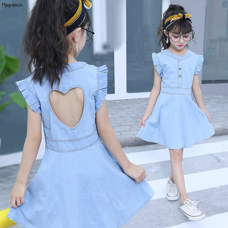 Children Dresses Summer Style 2017 Fashion Casual Kids Dresses for Girls 4 6 8 10 12 Years Teenager Clothing Infant Vestidos children dresses for girls summer casual stripe baby girl dress 2017 fashion kids clothes 4 6 8 10 12 years girls clothing