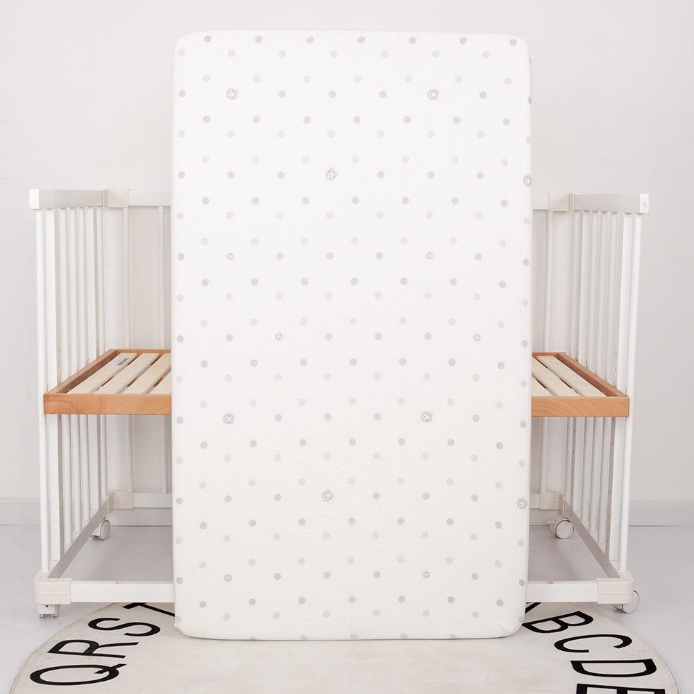 Детский бампер, защита для кровати, Младенческая кроватка, бампер для кровати, 4 шт., комплекты постельного белья для детей, включая простыню, подушка, одеяло, бампер - Цвет: white fitted sheet