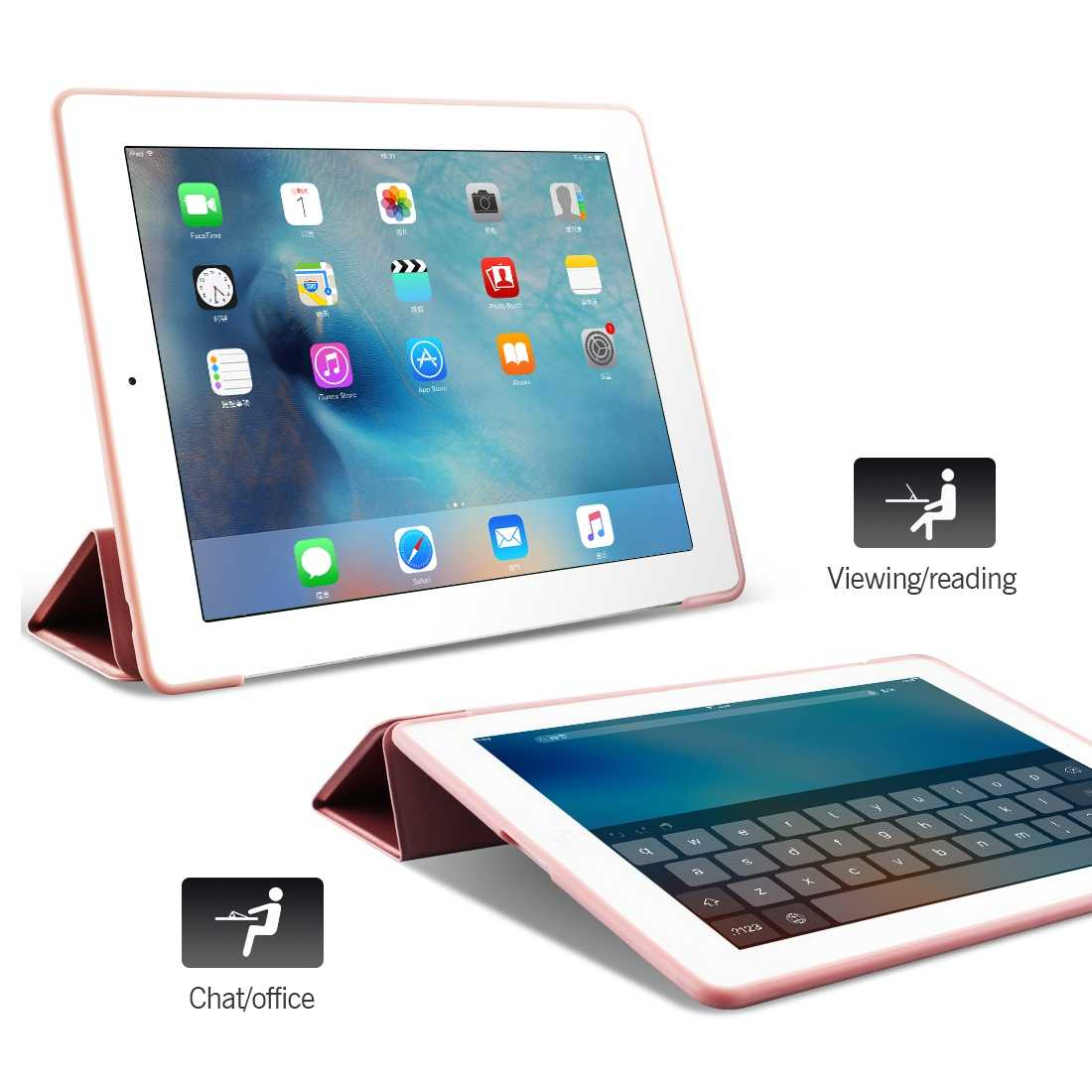 "Voor iPad Air 2 Air 1 Case 2018 9.7 Funda Silicone Soft Back 2017 Pu Lederen Smart Case voor iPad 6th generatie Case 10.2 ""2019"