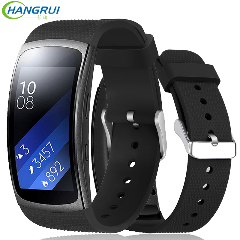 Hangrui Replacement Wristband For Samsung Gear Fit 2 Pro Band Luxury Silicone Watchband For Samsung Fit2 SM-R360 Strap Anti-lost