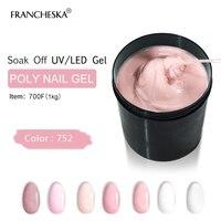 FRANCHESKA Poli гель поли гель 1 кг Polygel быстро УФ Builder Nail Art камуфляж натурально чистый белый Soak Off акриловый лак для ногтей